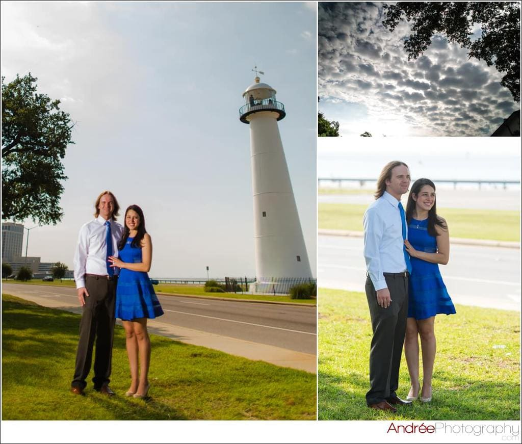 engagement-photos-andy-dustin_0004 Andrea and Dustin {Engaged} | Downtown Ocean Springs + Ohr O'Keefe Museum | Biloxi, MS Engagement Wedding