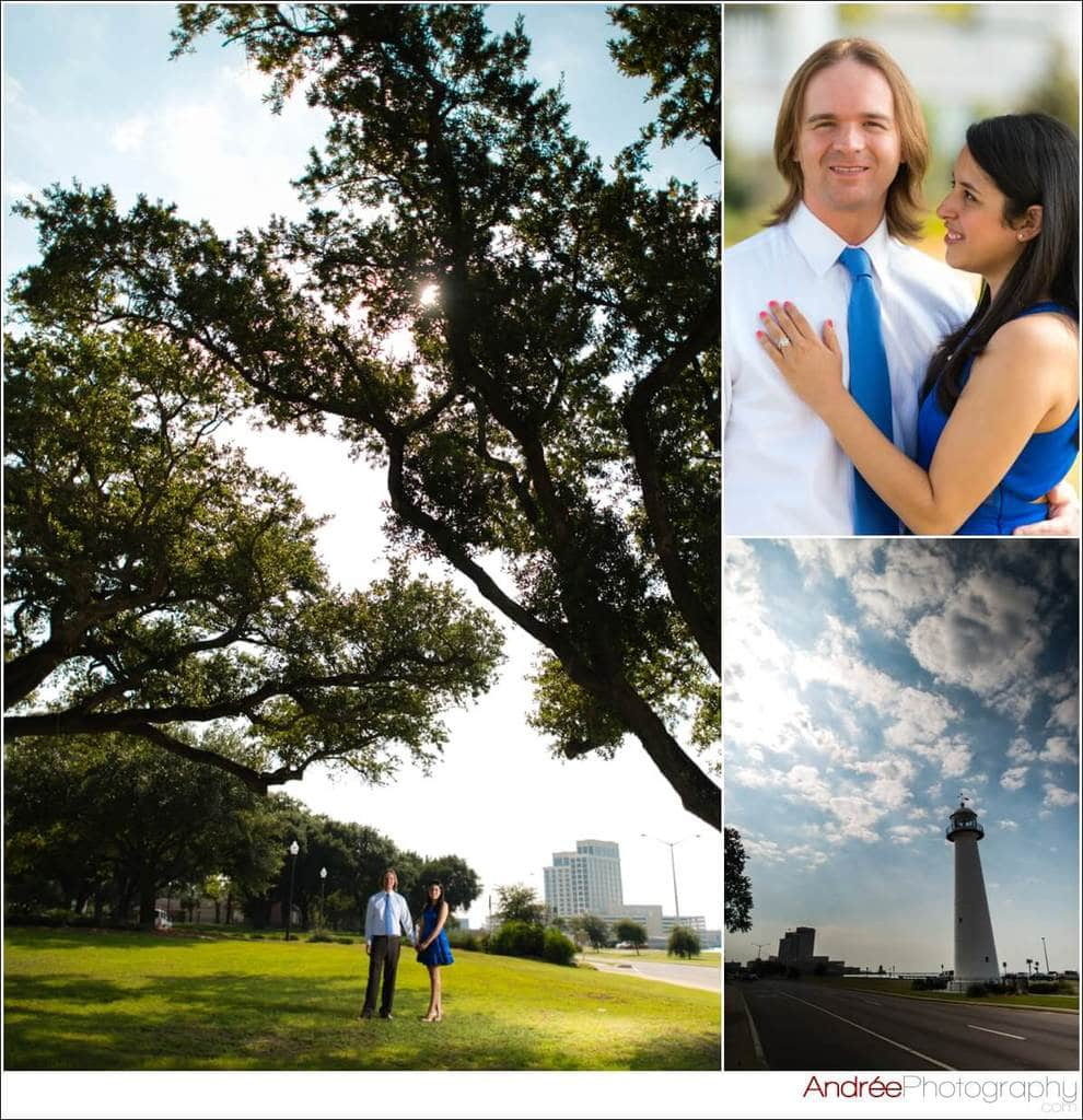 engagement-photos-andy-dustin_0005 Andrea and Dustin {Engaged} | Downtown Ocean Springs + Ohr O'Keefe Museum | Biloxi, MS Engagement Wedding