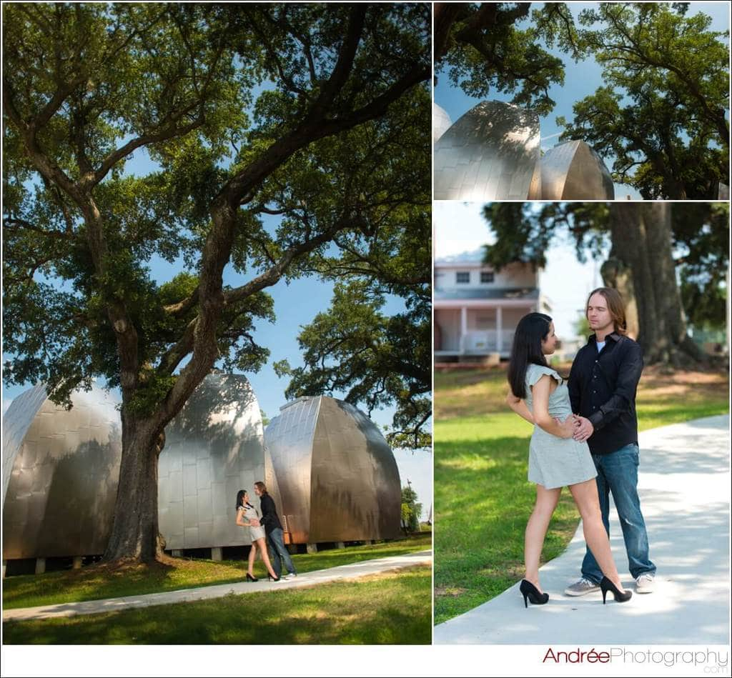 engagement-photos-andy-dustin_0021 Andrea and Dustin {Engaged} | Downtown Ocean Springs + Ohr O'Keefe Museum | Biloxi, MS Engagement Wedding