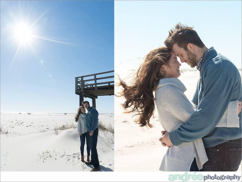 winter-windy-beach-engagement-dauphin-island_0005 Peyton and Addison {Engaged} | Dauphin Island Beach + Audubon Bird Sanctuary | Dauphin Island, AL Engagement Wedding