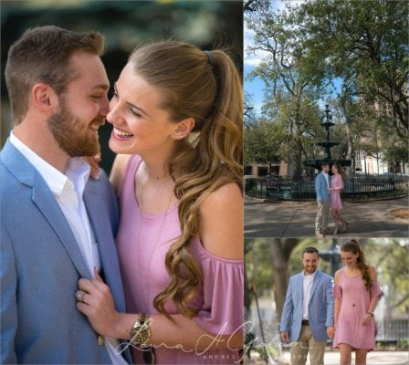 engagement-photos-outdoors-forest-canoe-downtown-mobile-makaela-gabe_0004-448x400 Makaela and Gabe {Engaged} | Bienville Square + Meaher State Park | Mobile, AL Engagement Photographer Business Engagement Wedding