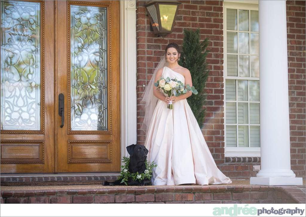 peyton-outdoors-oak-trees-black-lab-dog-bridal-session_0006 Peyton {Bridal Session}   Private Residence   Mobile, AL Bridal Wedding