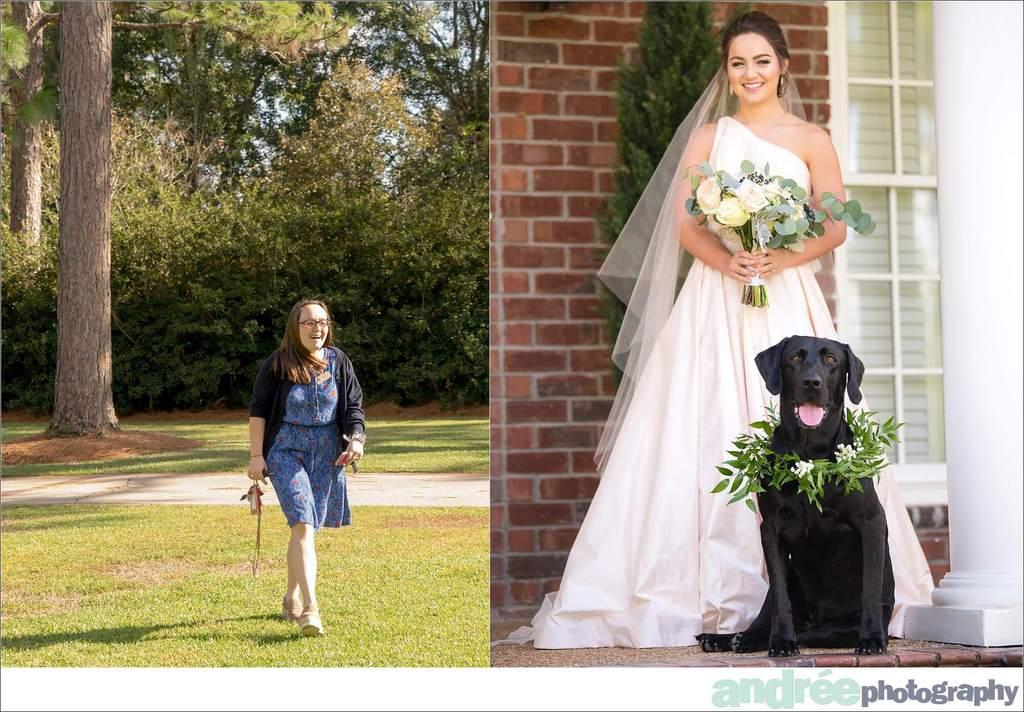 peyton-outdoors-oak-trees-black-lab-dog-bridal-session_0012 Peyton {Bridal Session} | Private Residence | Mobile, AL Bridal Wedding