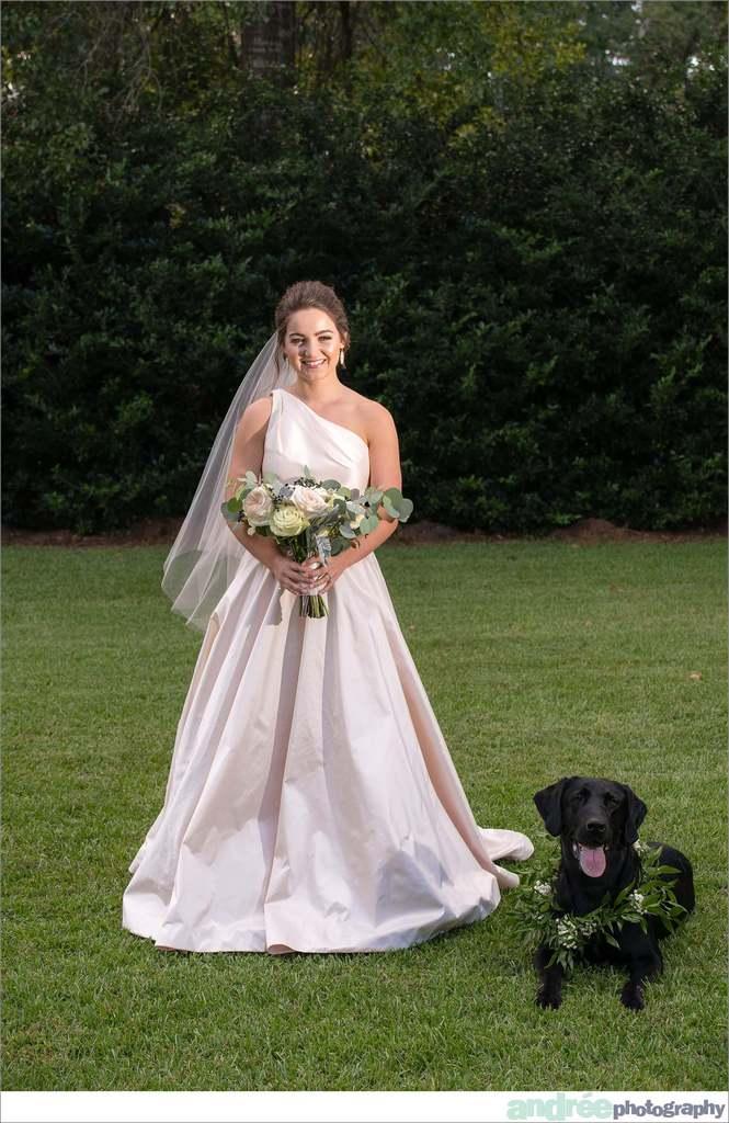 peyton-outdoors-oak-trees-black-lab-dog-bridal-session_0018 Peyton {Bridal Session}   Private Residence   Mobile, AL Bridal Wedding