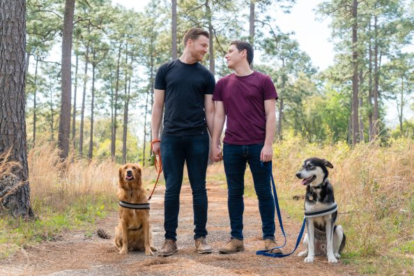 Kevin and Kaleb {Engaged} | Longleaf Pine Forest + Bienville Square | Mobile, AL